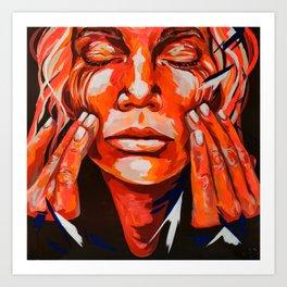 Red Hands Tale by #carographic, Caroyln Mielke  Art Print