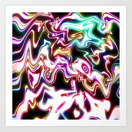 Oil Spills Neon Art Print