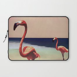 Flamingo beach Laptop Sleeve