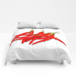 Spicy red pepper Comforters