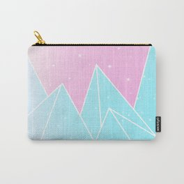 Sparkly Blue Crystals Design Carry-All Pouch