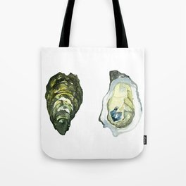 Watercolor Atlantic Oysters #1 by Artume Tote Bag