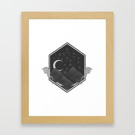 Dark Hills Framed Art Print