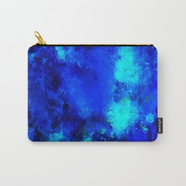 psychedelic color gradient pattern splatter watercolor blue Carry-All Pouch