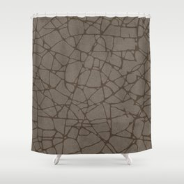 BROKEN GLASS BROWN Shower Curtain