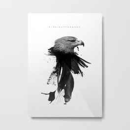 Straightforward Eagle Metal Print