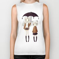 sisters Biker Tanks featuring Sisters by Freeminds
