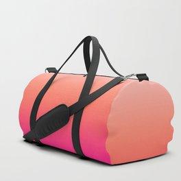 Gradient Ombre Living Coral Millennial Plastic Pink Pattern Peachy Orange Soft Trendy Cute Texture Duffle Bag
