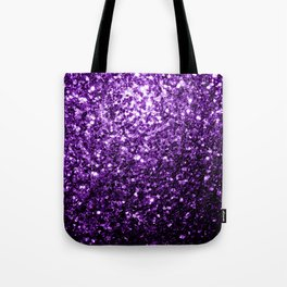 Beautiful Dark Purple glitter sparkles Tote Bag
