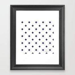 Modern Swiss - Bold Style Cross Plus Sign Framed Art Print