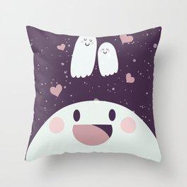 Pink Loving Ghosty Throw Pillow
