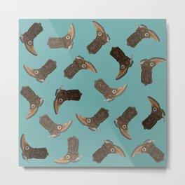 Cowboy Boots - pattern Metal Print