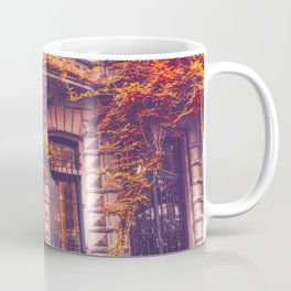 Dressed Up in Autumn - New York City Brownstones Coffee Mug