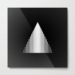Abstraction 022 - Minimal Geometric Triangle Metal Print