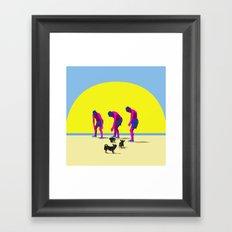 Haciendo amigos Framed Art Print