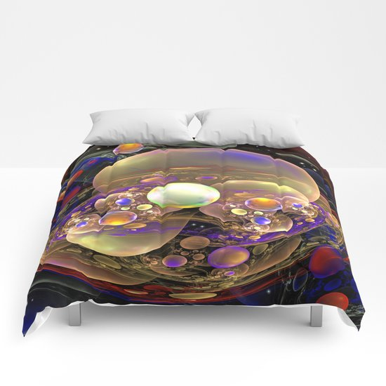 Gathering of the Planets, Fractal abstract Comforters