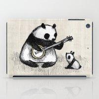 banjo iPad Cases featuring Banjo Panda by Sophie Corrigan