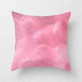 Pink Foam Plastic Texture Throw Pillow