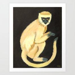 A Monkey Art Print