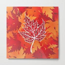 Maple Leaf Metal Print