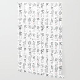 Houseplants Pattern Wallpaper