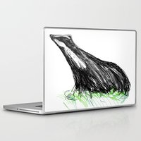 badger Laptop & iPad Skins featuring Badger by James Peart
