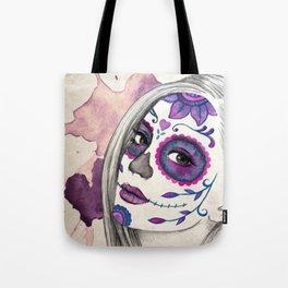 Sugar Skull Girl Tote Bag