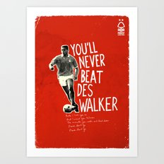 Nottingham Forest Legends Series: Des Walker Graphic Poster Art Print