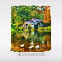 Autumn at the Mill Shower Curtain