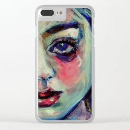 Tosca, Rainbow Child Clear iPhone Case