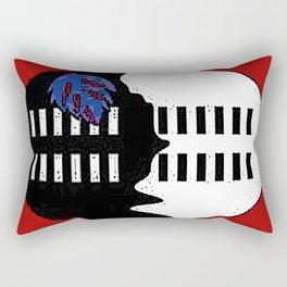 Swaziland Map with Swazi Flag Rectangular Pillow