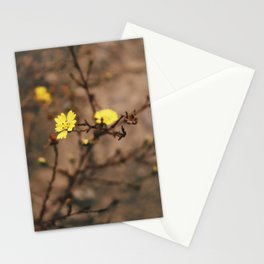 Blooming Yellow Flowers Stationery Cards