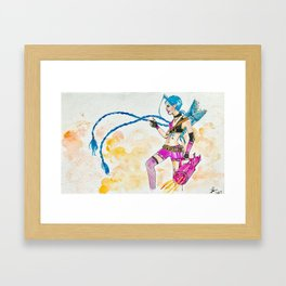Jinx watercolor painting Framed Art Print