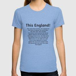 This England! Black Text T-shirt