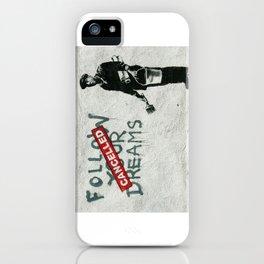 Banksy Follow Your Dreams iPhone Case
