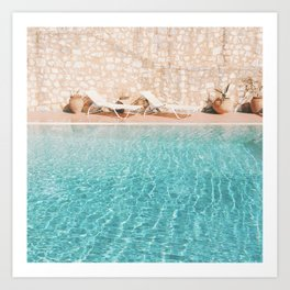 Swimming Pool V Art Print