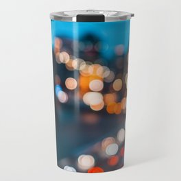 Bokeh view of Downtown Manhattan Travel Mug