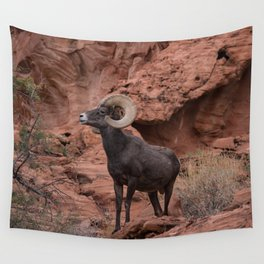 Desert Bighorn, Valley of Fire - III Wall Tapestry