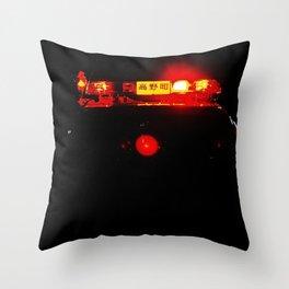 Night lights in Tokyo Throw Pillow