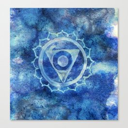Throat Chakra Canvas Print