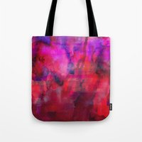 burgundy Tote Bags featuring Burgundy by Georgiana Paraschiv
