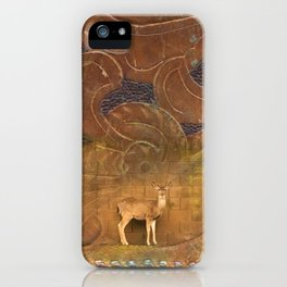 Deer Sheltering in the Storm iPhone Case