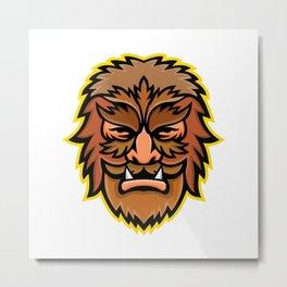 Circus Wolfman or Wolfboy Mascot Metal Print
