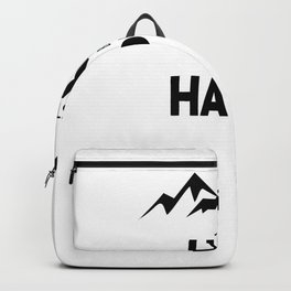 Just Hike And Be Happy Backpack