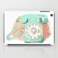 telephone iPad Cases featuring Telephone by Paint Your Idea