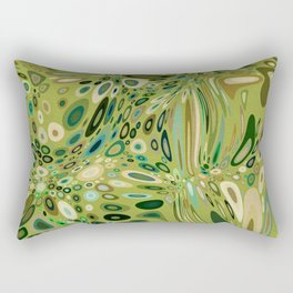 SOYLENT textured abstract in shades of green - lime to emerald Rectangular Pillow