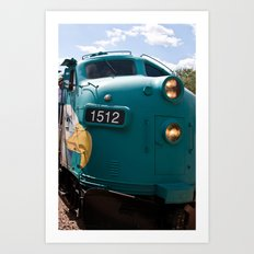 Train In Your Face Art Print