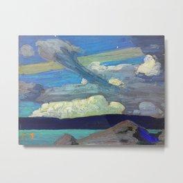 "Tom Thomson Clouds (""The Zeppelins"") 1915 Canadian Landscape Artist Metal Print"