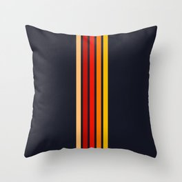 """Five Colorful Stripes on Black """"Sunrise"""" Throw Pillow"""
