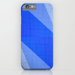 Lapis Lazuli Shapes - Cobalt Blue Abstract iPhone Case